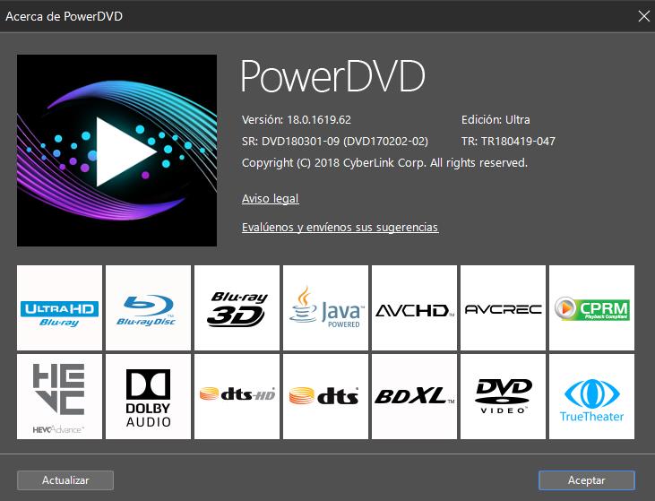 CyberLink PowerDVD 18 Ultra v18.0.1619.62 Full ESPAÑOL Autoactivado 6