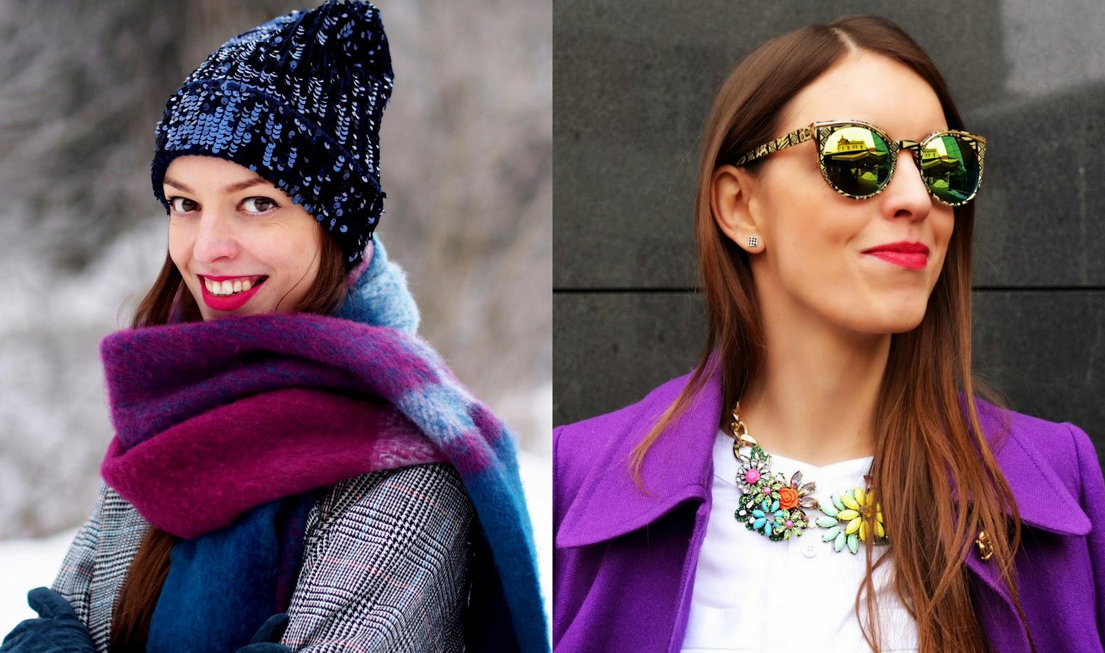 a5e9157a5734 Takisto mám veľa letných aj zimných šálov a šatiek a najobľúbenejší kúsok  je už spomínaný fialový kabát