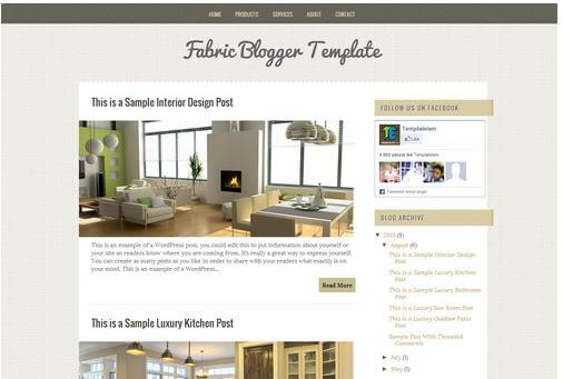fabric blogger template for blog