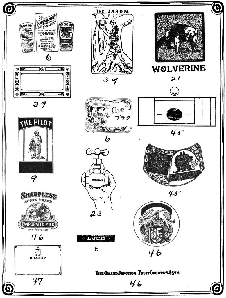 Letterology: Early 20th Century Trade Marks