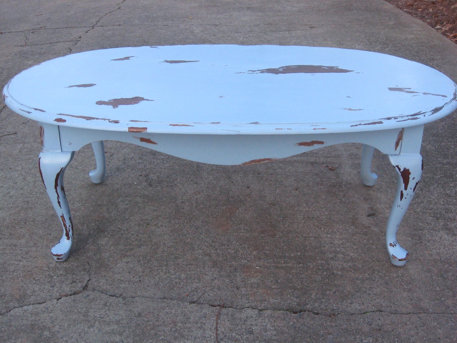 Very A New Leaf Furniture: Blue Distressed Coffee Table - Sold! OL39
