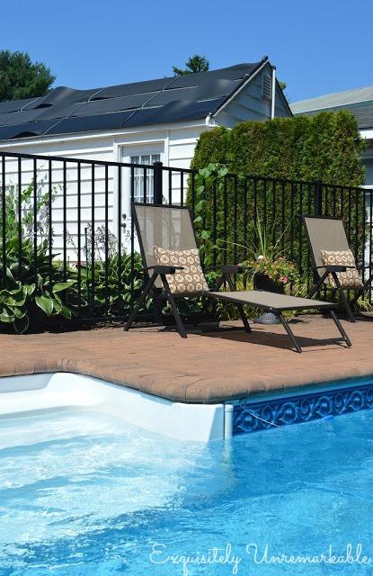 Inground pool and brick patio area