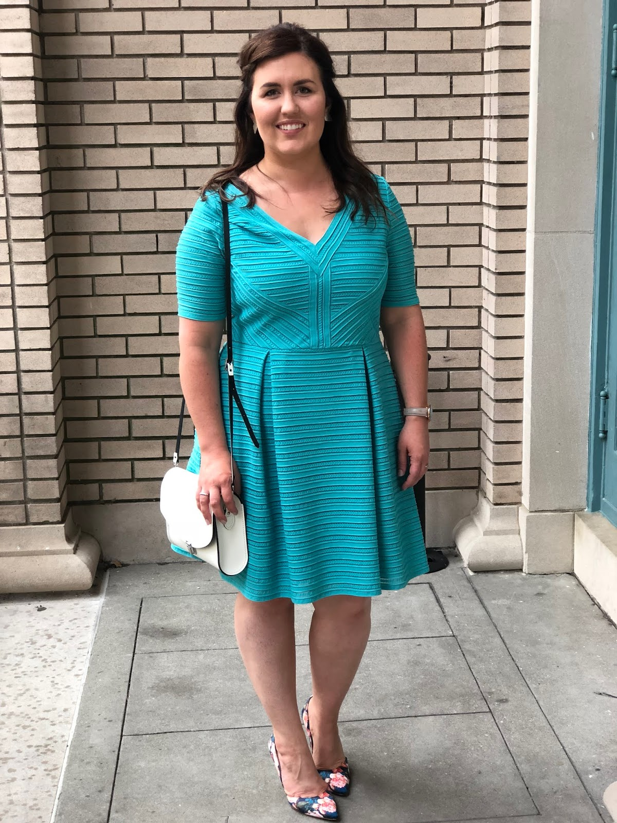Popular North Carolina style blogger Rebecca Lately shares a summer wedding guest outfit. Check it out if you love shopping your own closet!
