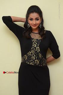 Telugu Actress Manasa Manohar Stills in Black Long Dress at Naku Nene Thopu Turumu Trailer Launch  0048.JPG