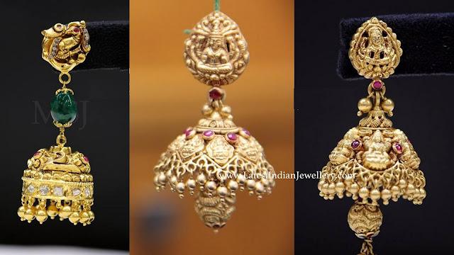 MSJ Gold Jhumkas
