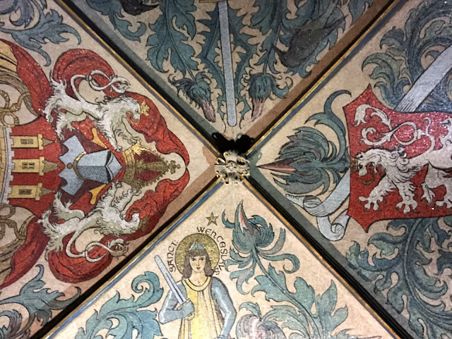Painted ceiling of the Old Town Hall in Prague