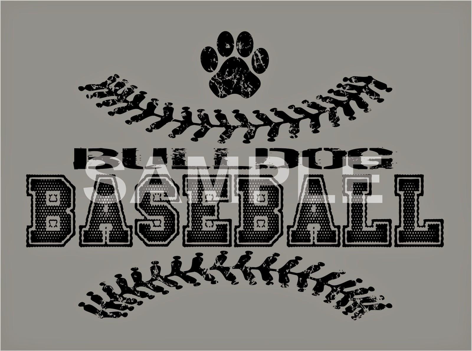 Earlfergusonstudio Bulldog Baseball Design Clip Art
