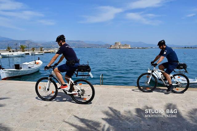 Στην ταχύτερη και πιο άμεση εξυπηρέτηση των πολιτών και τουριστών στοχεύει η αστυνόμευση με ποδήλατα στο Ναύπλιο (βίντεο)
