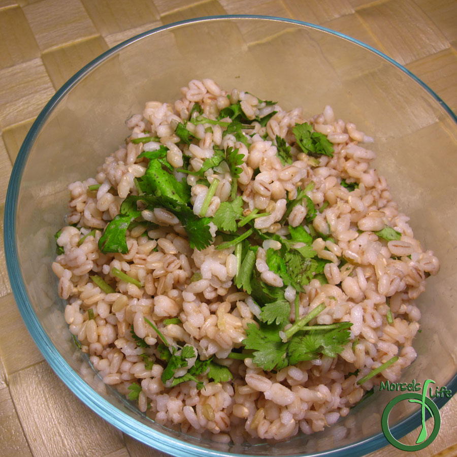 Morsels of Life - Cilantro Lime Rice - Steamed rice tossed with fresh cilantro and brightened with a bit of lime.