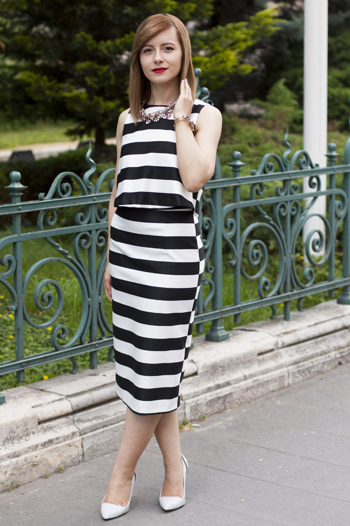 the stripped dress