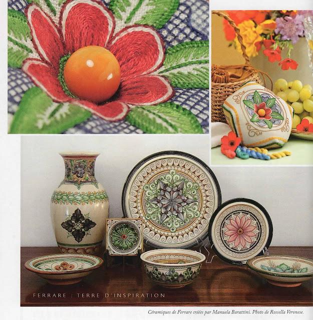 Broderies d'Elisabeth Holzer Spinelli