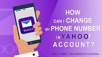 Change Yahoo Phone Number