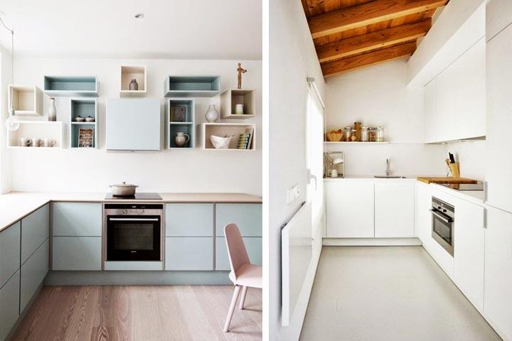 Reformas y mejoras for Fotos cocinas pequenas cuadradas