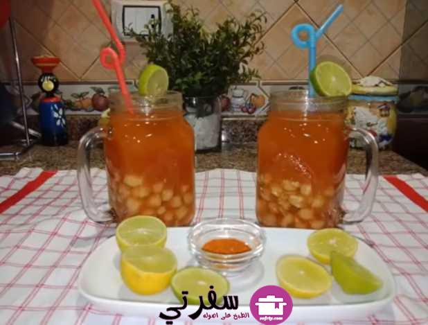 حمص الشام مشروب الشتا الرسمي فاطمة أبو حاتي