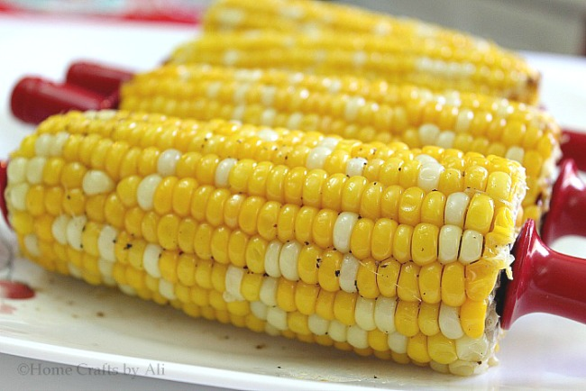 tasty and delicious corn on the cob perfectly grilled