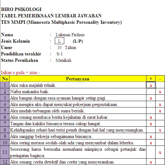 Soal Mmpi Ebook