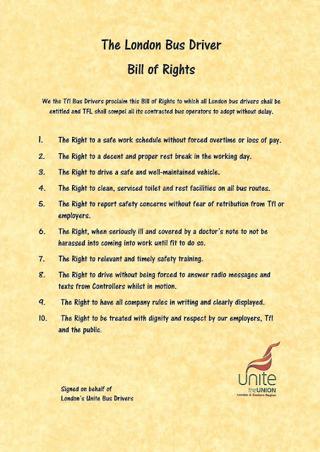 london bus driver bill of rights