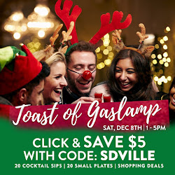 Save on passes & Enter to win tickets to the Toast of Gaslamp - December 8!