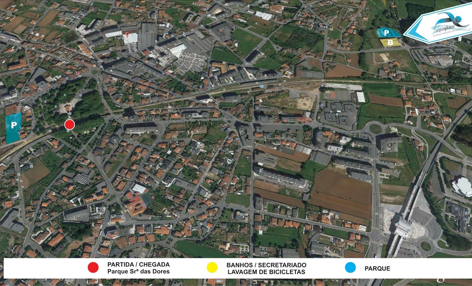 Localização Paddock, Secretariado e Parques