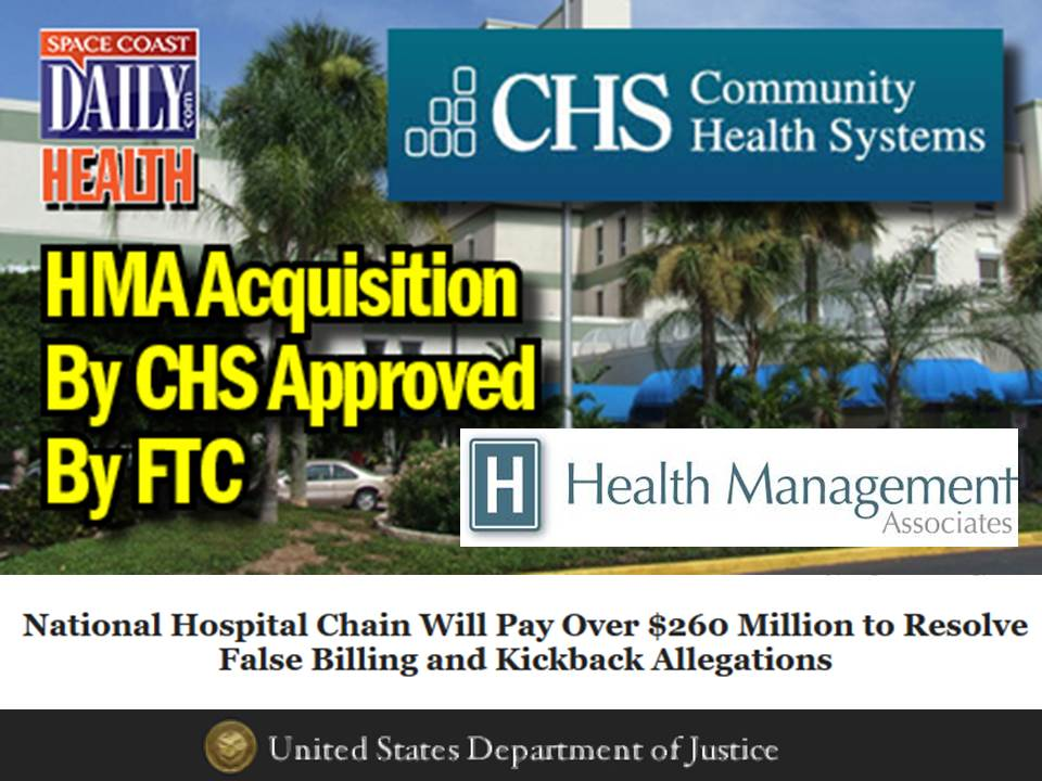 PEU Report: CHS Settles HMA Kickback Case with Feds for $262