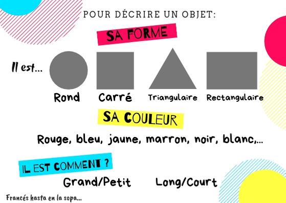 Opisywanie przedmiotów - słownictwo 10 - Francuski przy kawie