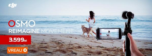 DJI Osmo o camera video cu adevarat revolutionara, oferind o rezolutie 4K si un sitem ingenios de stablizare a imaginii, oferindu-va imagini uimitoare de fiecare data, indiferent de conditiile in care filmati.