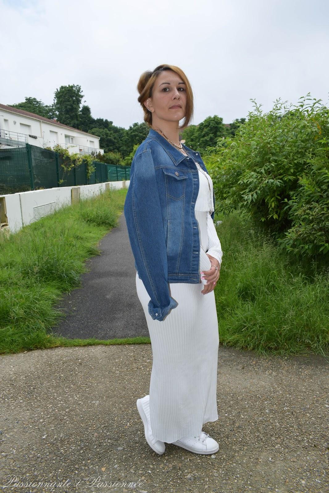 look en robe longue blanche