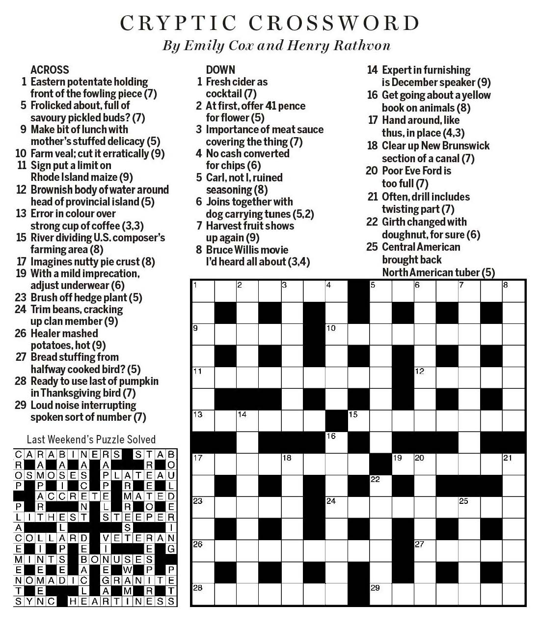 Spring Feast Crossword Topsimages