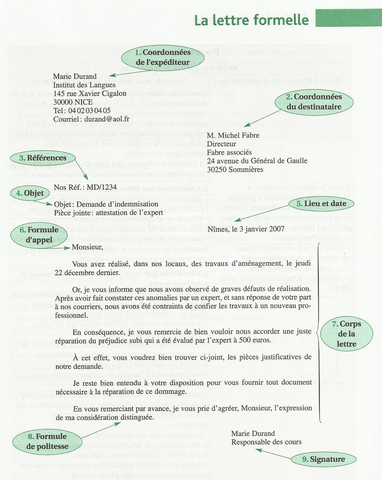 comment terminer lettre administrative