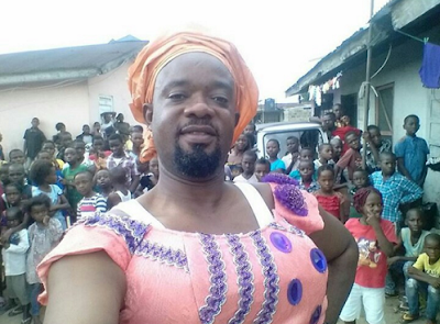 Actor Charles Inojie Dressed Up As A Woman so Awesome
