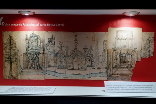 drôme hauterives palais idéal facteur cheval musée plan croquis