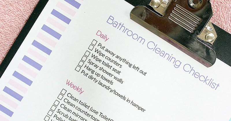 photograph regarding Printable Bathroom Cleaning Checklist identify The Greatest Lavatory Cleansing List Cost-free Printable