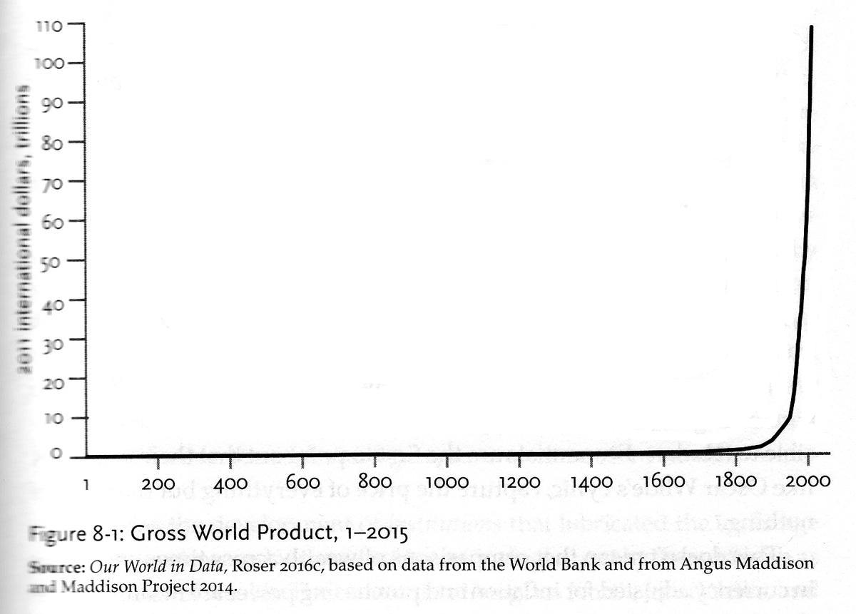 i conclude with just one of these charts because it just blew me away it is in the chapter on wealth and is of the gross world product