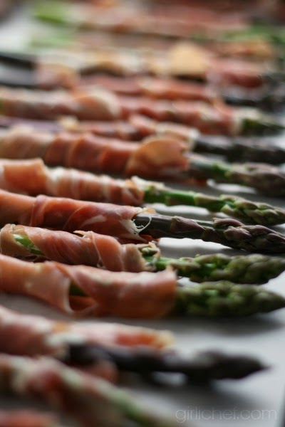 "Prosciutto-wrapped Asparagus in ""13 Would-Be Blog Posts of 2013"" at www.girlichef.com"