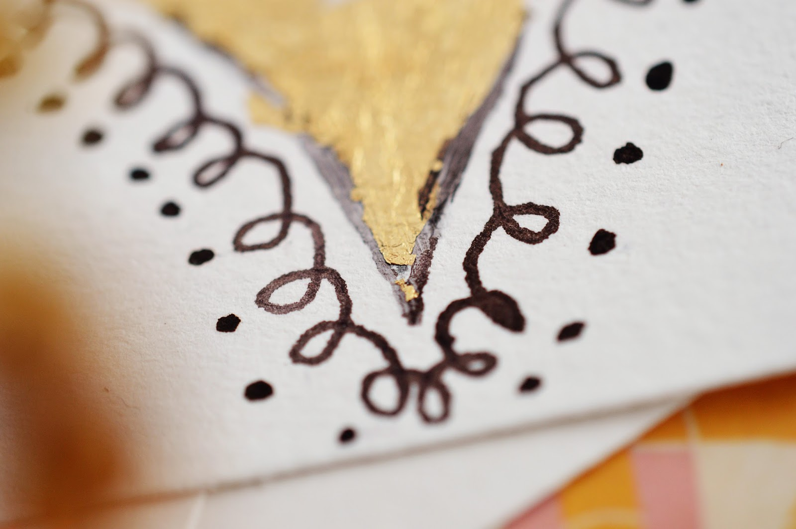 DIY Warhol-Inspired Gold Leaf Painting | Motte's Blog