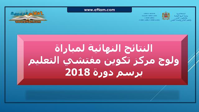 النتائج النهائية لمباراة ولوج مركز تكوين مفتشي التعليم برسم دورة 2018