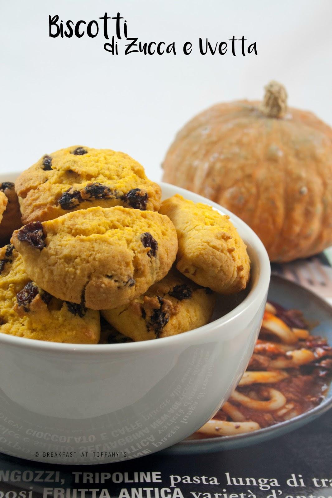 Biscotti di zucca e uvetta / Pumpkin and raisins cookies