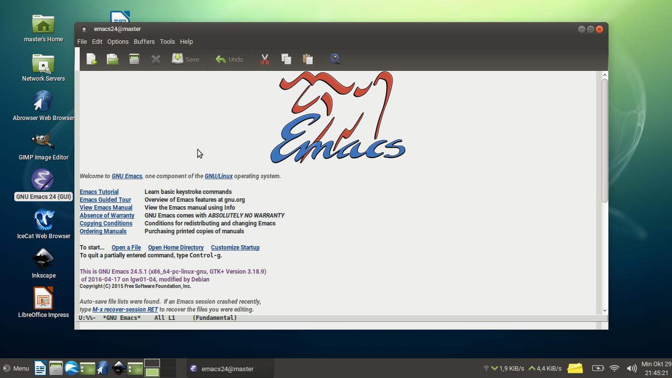 Panduan dasar emacs untuk pemula bagian 1