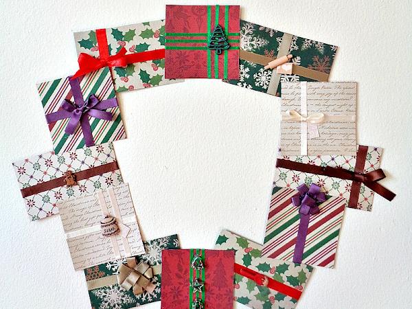 DIY: Paper Present Wreath