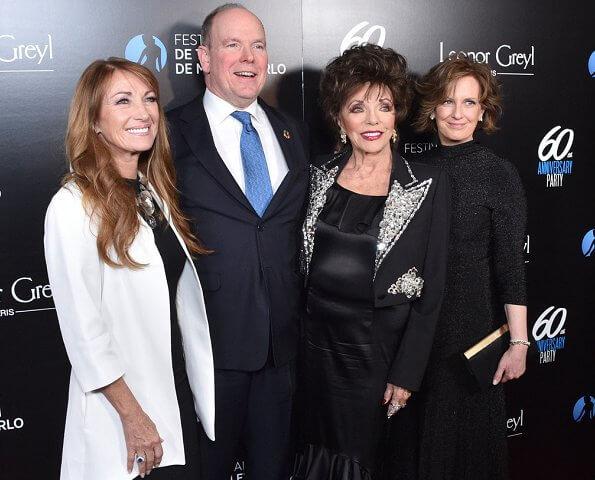 Prince Albert's daughter, Jazmin Grace Grimaldi. Jane Seymour, Joan Collins and Anne Sweeney. Princess Charlene of Monaco