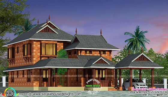 Traditional Kerala 4 bedroom 2253 sq-ft home