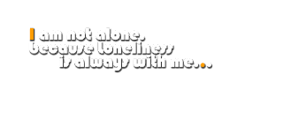 Loneliness PNG Text