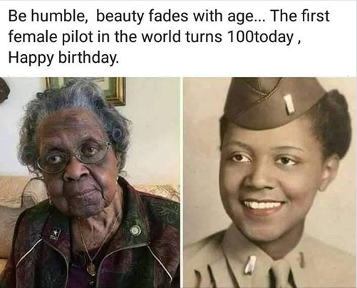 The First Female Pilot in The World Clocks 100 Years