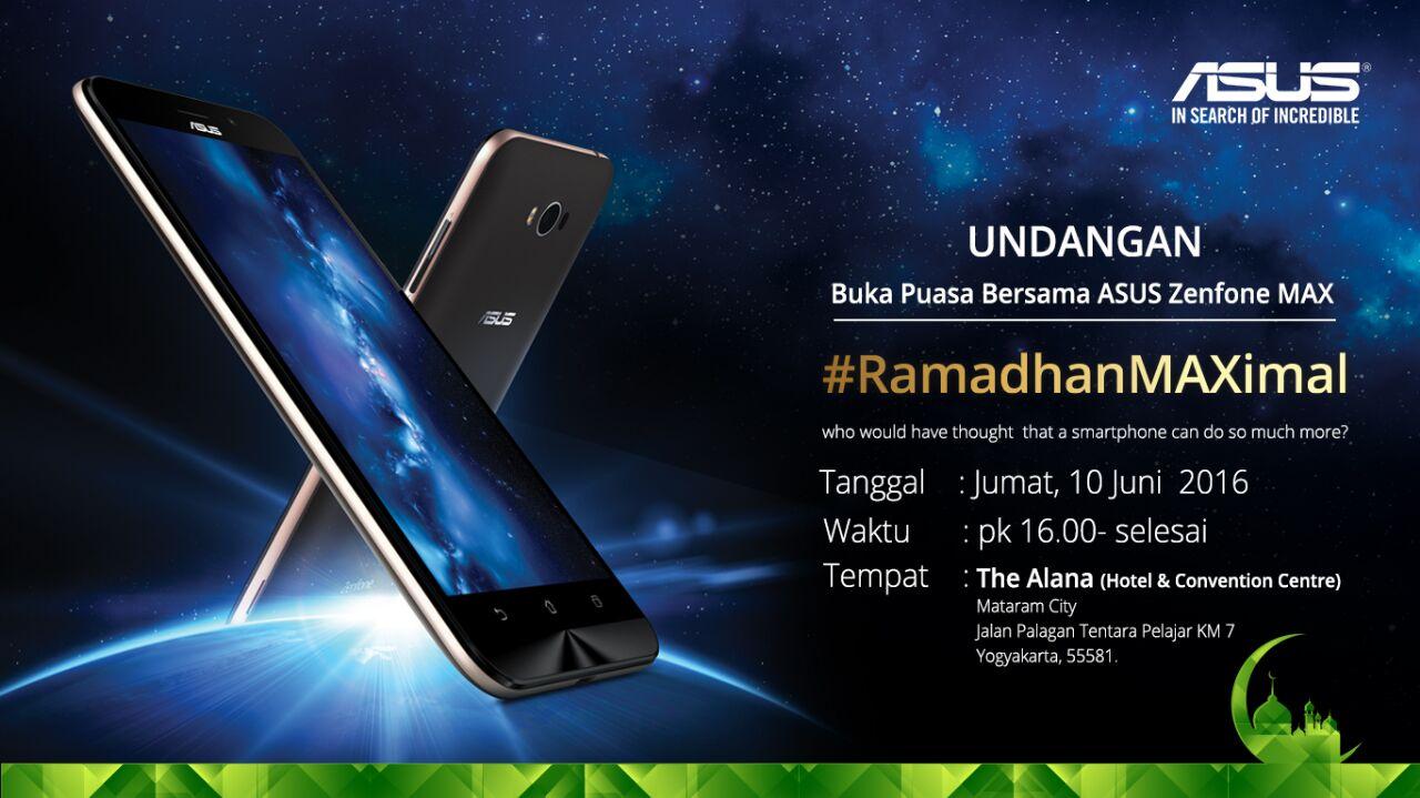 #RamadhanMAXImal Bersama ASUS ZenFone Max
