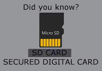 Technological abbreviation acronyms meaning SD card