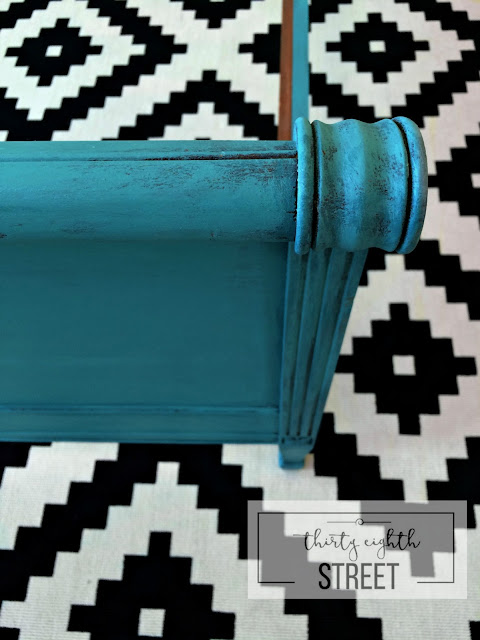 layering provence, layering aubusson blue, turquoise patina, before and after photos, layered dry brush finish, diy, paint, painting furniture