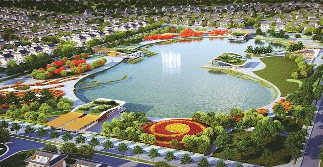 không gian xanh khu đô thị Dương Nội