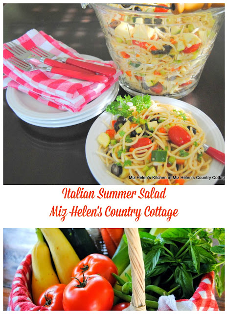 Italian Summer Salad at Miz Helen's Country Cottage