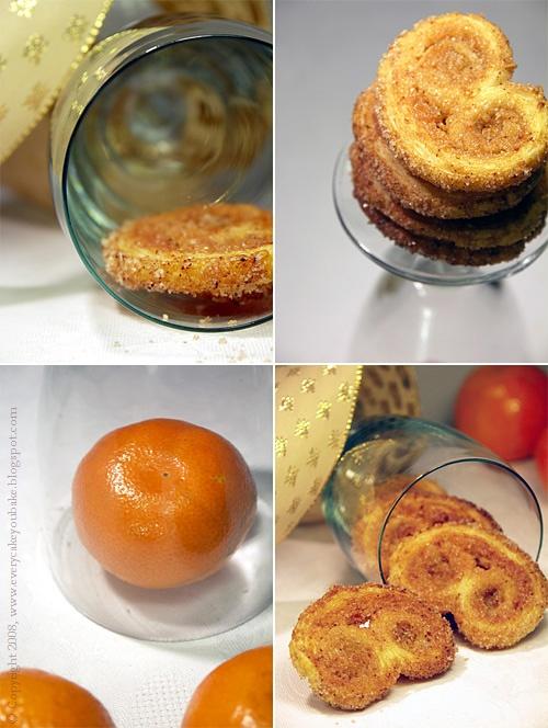 palemki cynamonowo-pomarańczowe z ciasta francuskiego