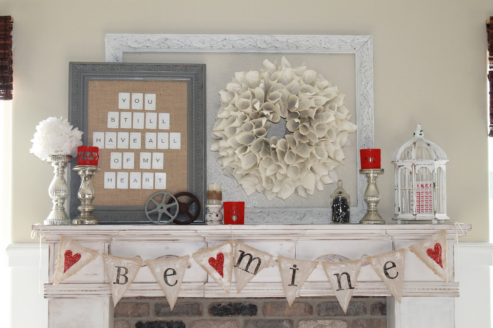 Whimsical Treasures: {Valentine Mantel}